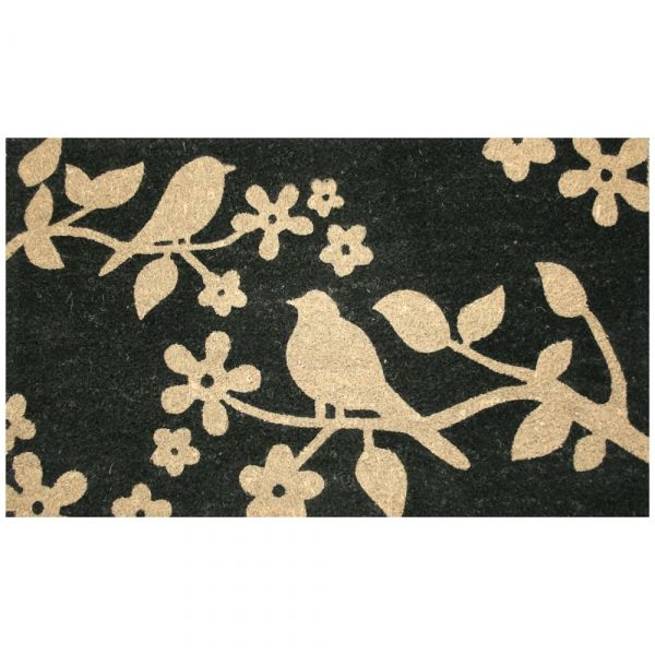 Superb Birds And Floral Coir Rubber Backed Door Mat   For Hallway Project?