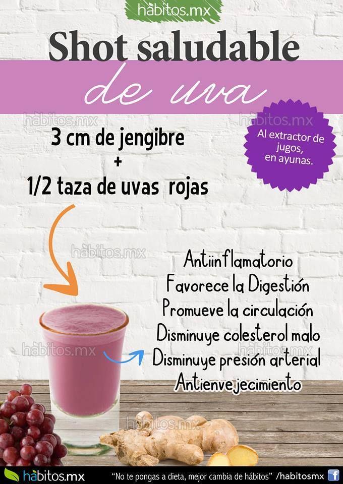 Shot de jengibre y uvas By Habitos.com