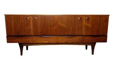 Danish Style, Mid Century Credenza, Media Console or Dresser