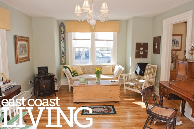 A common theme throughout this victorian house is the chandeliers, including this one in the living room. Featured in the Summer 2013 issue of East Coast Living. Photo: Rachel Peters