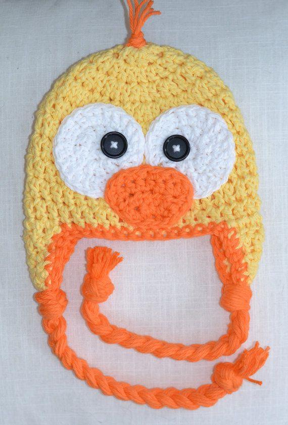 duck hat crochet duck hat baby hat crochet by VioletandSassafras, $24.00