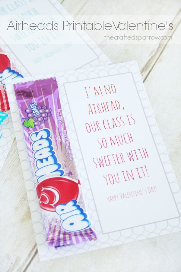 Airheads Printable Valentine's - The Crafted Sparrow