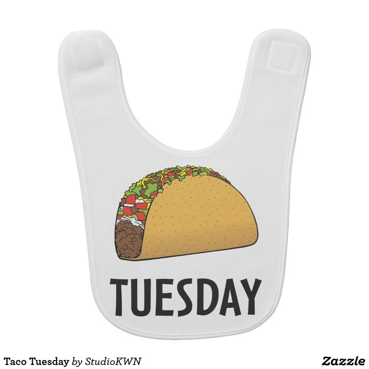 Taco Tuesday bib designed by StudioKWN