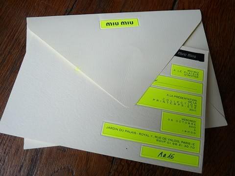 Miu Miu Spring Summer 2011 Show Invitation + Live Broadcast - Bryanboy.com…