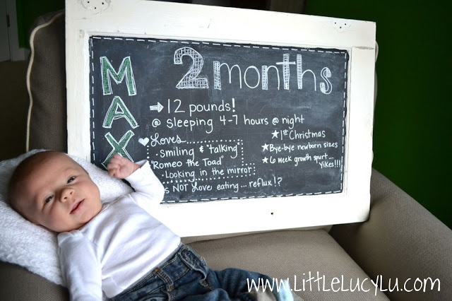 cute idea for documenting babies 1st year (I so wish blogging/Pinterest had been around when my boys were little!!)
