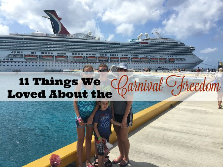 We recently spent a week onboard the Carnival Freedom and wanted to show you the Top 11 Things we loved the most about this Carnival Cruise line's ship.