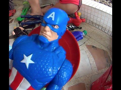 Capitão América Moto Fricção Vingadores Thor Hulk Homem Aranha Venon Cha...