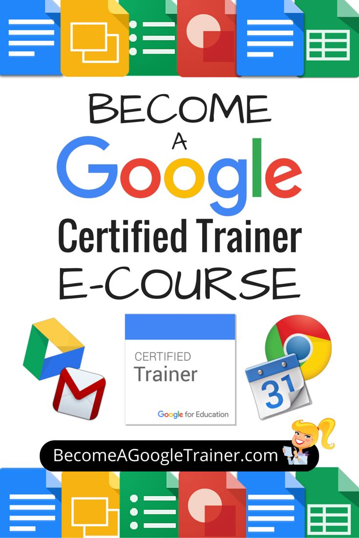 Become a Google Certified Trainer E-Course: It's finally here! My new e-course: Become a Google Certified Trainer is open for enrollment! This new e-course will walk you through each step of the process to becoming a Google Certified Trainer, including the five exams, the applications, tips, tricks, special bonus downloads and more!