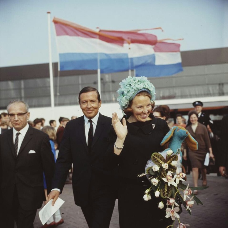 Queen Beatrix and prince Claus.