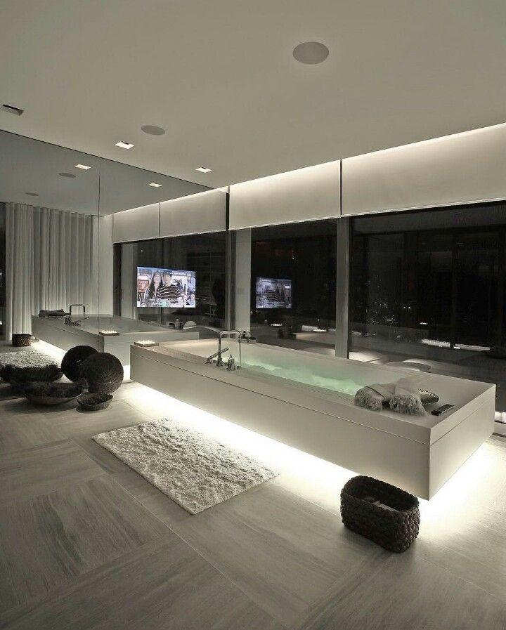 Stunning bathroom in a  Penthouse.  | bocadolobo.com/ #luxurybathroom #luxurybathroomideas