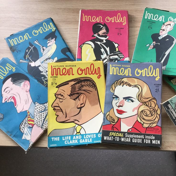 Vintage men's magazines for October, from 1948 to 1960, just added to my online shop, including October 1956, which is perfect for a 60th birthday present!