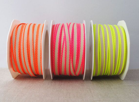 Neon edge ribbon - 3m, choose your colour