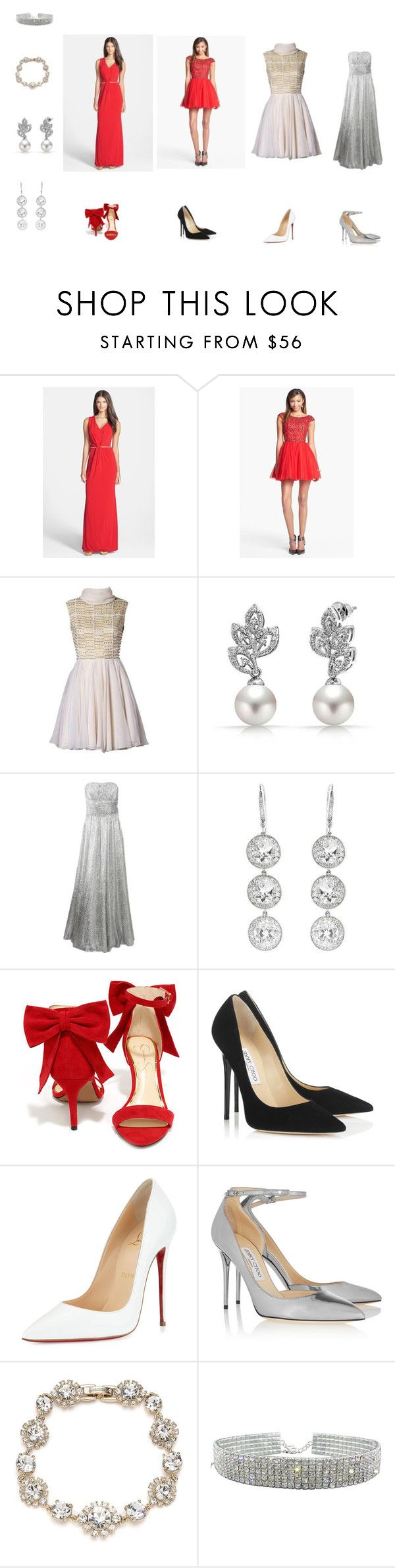 2016 Annual Golden Key VA Ball, Thursday, May 19, 7pm - Women's by evejo on Polyvore featuring Sherri Hill, Michael Kors, Laundry by Shelli Segal, Christian Louboutin, Jessica Simpson, Jimmy Choo, Bling Jewelry, Marchesa and Andrea Fohrman