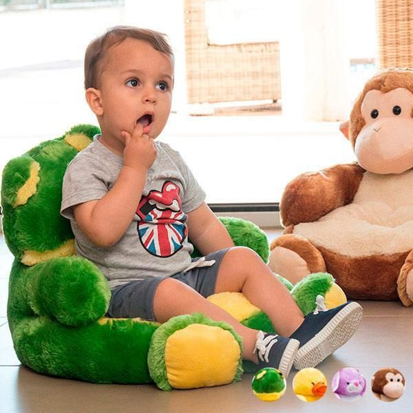 Treat the kids in your family to this Children's stuffed animal armchair! They'll certainly feel special with their first children's armchair. Material: 100% po