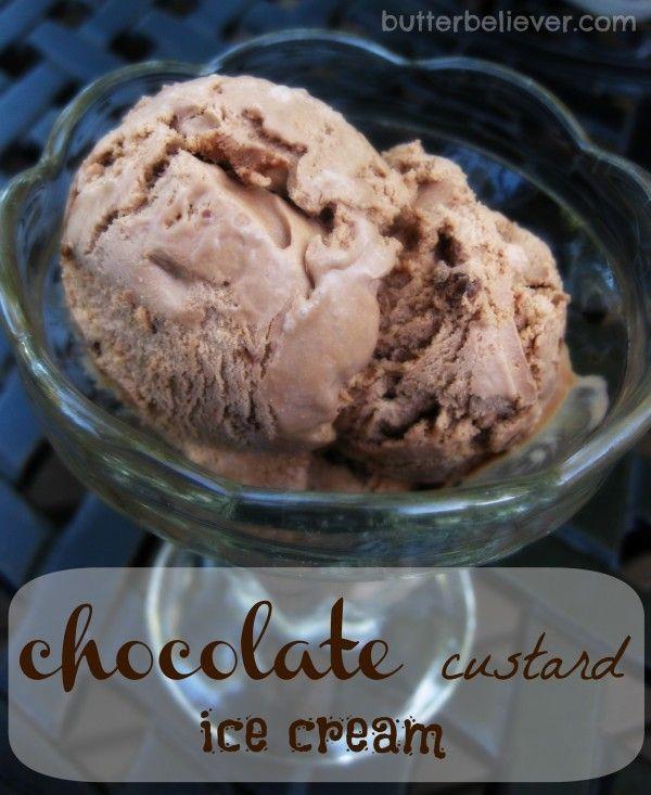 BEST ever Chocolate Custard Ice Cream recipe!