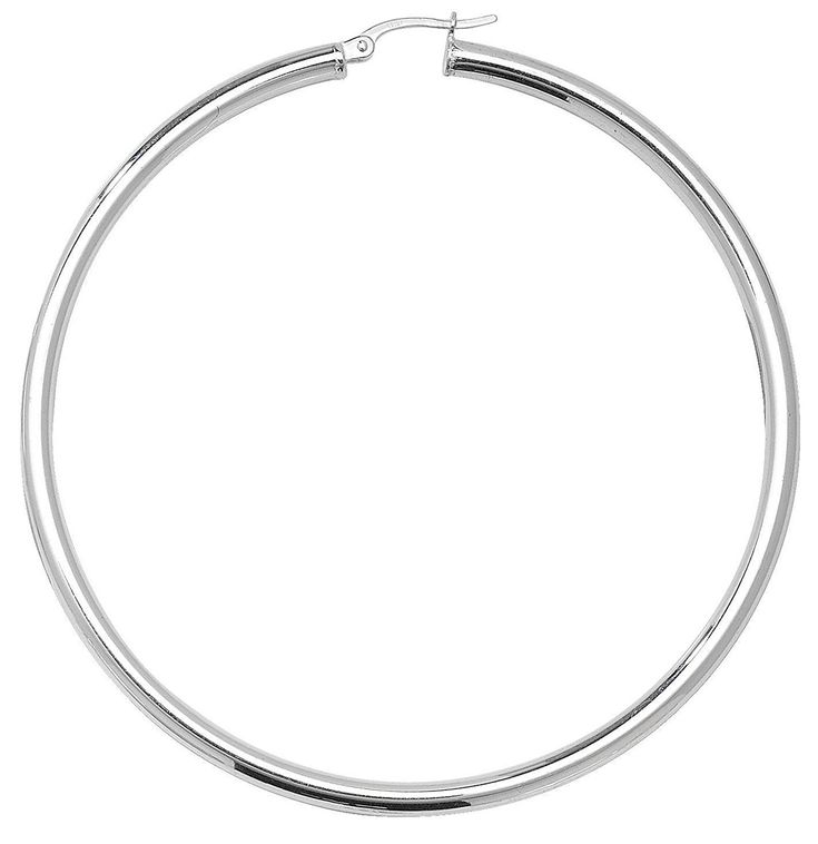 .925 Sterling Silver Plain 3mm thickness Polished Round Hoop Earrings 13/16 to 2.36 Inches Width ** To view further for this article, visit the image link. #JewelryDesign