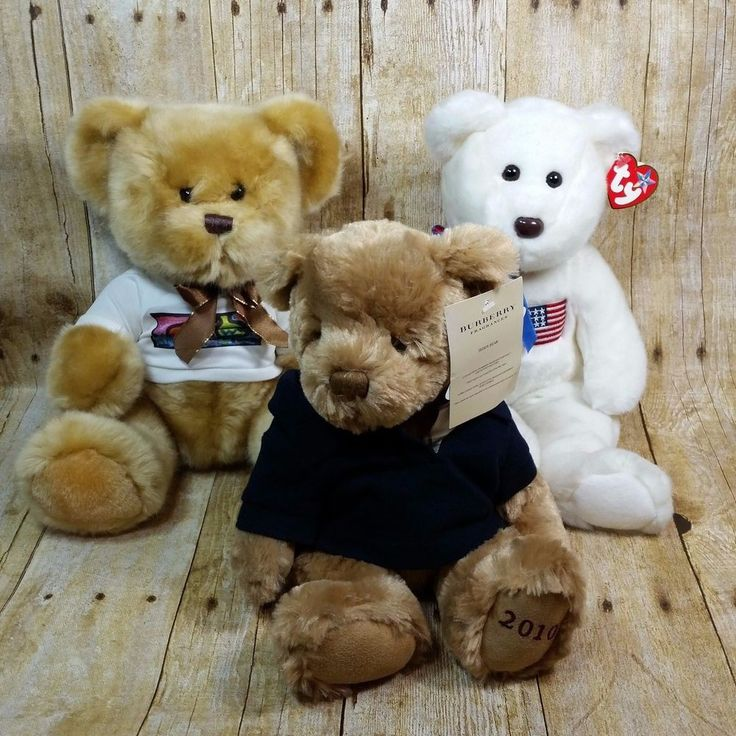 Plush Teddy Bear Collection Burberry Steven Smith Ty Libearty LOT Of 3 Toys #BurberryTyStevenSmith #AllOccasion