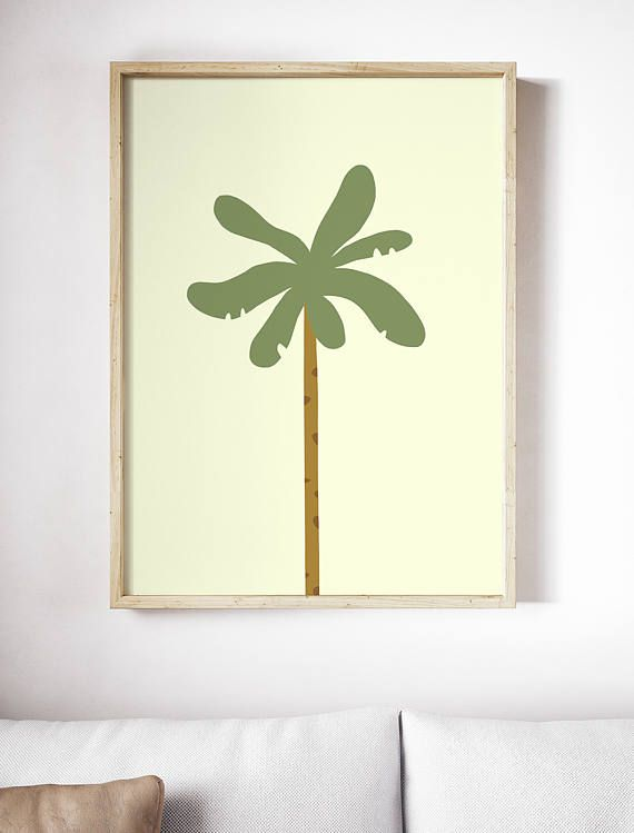 Palm tree poster Nursery poster Nature print Child poster
