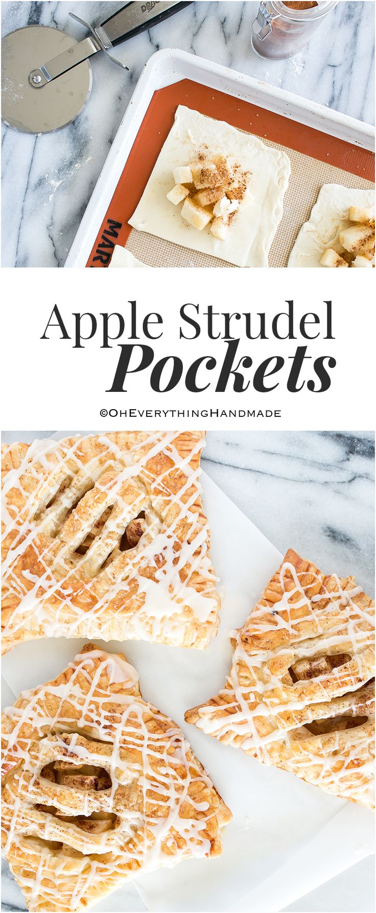 Apple Strudel Pockets are my go-to dessert, this recipe is very simple to make and you can enjoy them within 30 minutes. I also made similar Apple Turnovers a while back, which are just as delicious but require a few additional steps.
