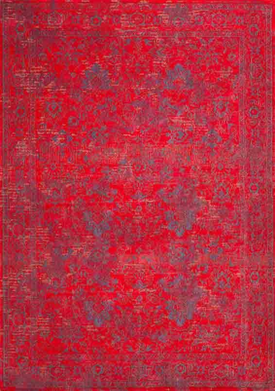 #Teppich Orient-Muster   #gefärbt #gewebt   #feuerrot #rot #blau #vintage #orient #orientalisch