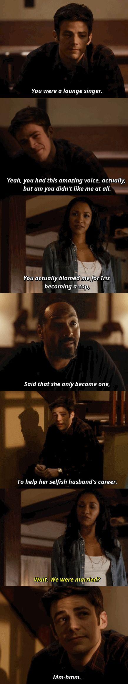 The Flash 2x15 King Shark, Barry Allen, Iris West, Joe West