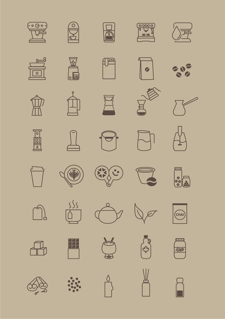 This icon set will be useful for a web store's catalogue, product instruction or coffee shop/brew bar. There is different types of coffee machines, coffee makers, coffee grinders, barista tools etc. Please feel free to download and use it ;)