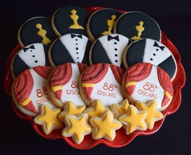 Oscar themed cookies for the 88th Academy Awards!