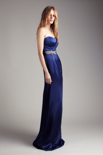 'Collette Dinnigan' Olivia gown would be so unique with a Midnight Rose or a Blue Pearl Hair Band worn on the wrist with the hair left long and lucious.
