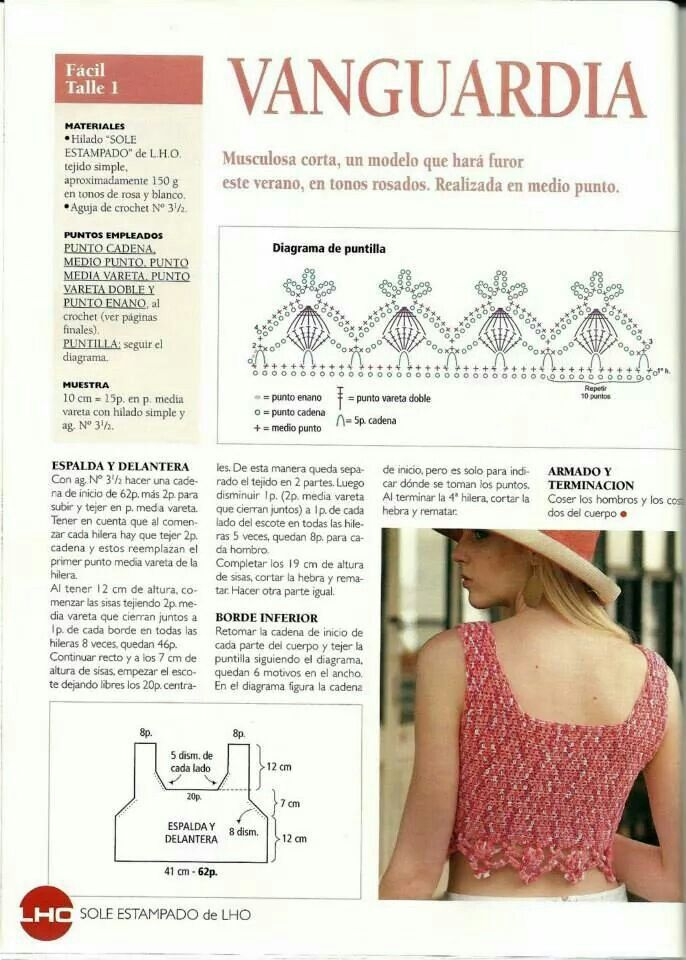 124 best patrones moda mujer images on Pinterest | Crochet clothes ...