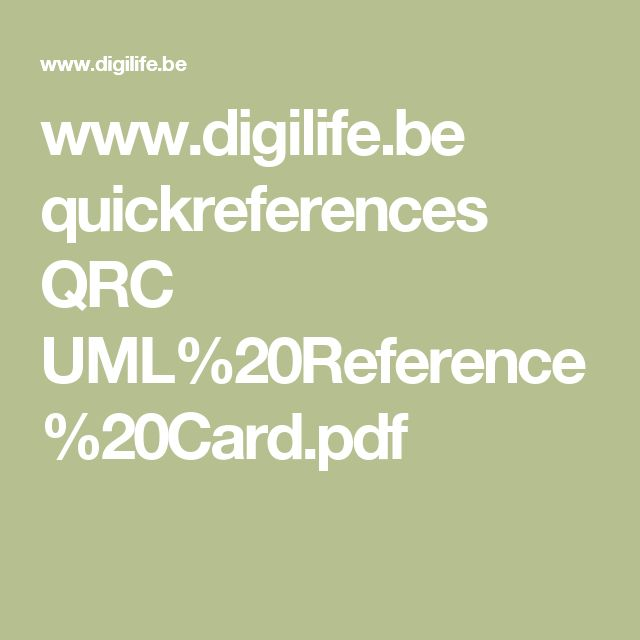 www.digilife.be quickreferences QRC UML%20Reference%20Card.pdf