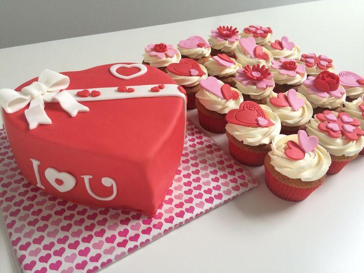 Valentijn taart en cupcakes