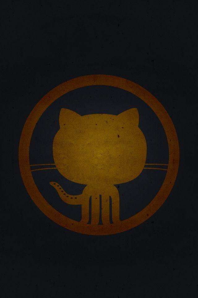 Github logo [orange]