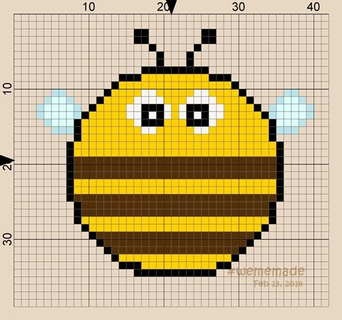 Pattern Perler Beads Creation No.16: Chubby Bee in Round Design Collection by #wememade