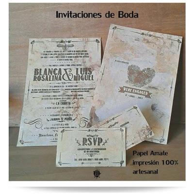 #invitacion #vintage #boda #silkscreen #serigrafia %Hechas a mano