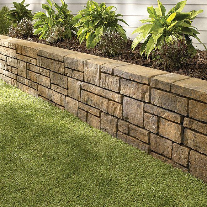 Concrete Garden Wall Townsend Beige Nuance Landscaping Retaining Walls Concrete Garden Garden Retaining Wall