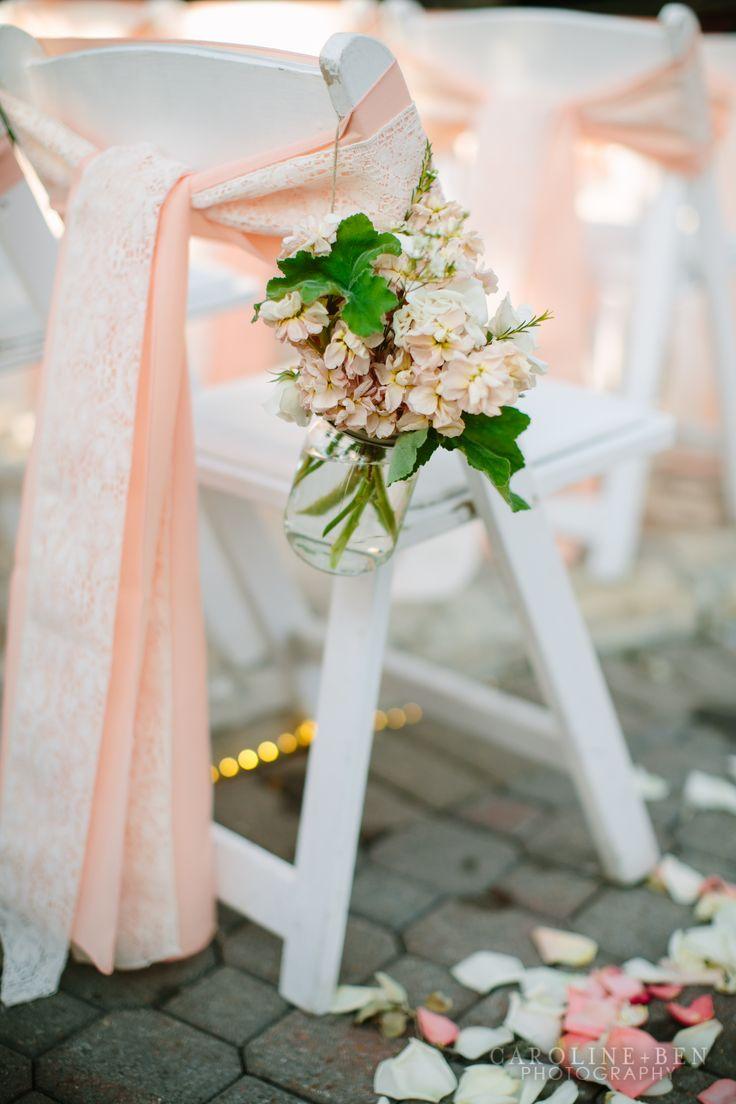 wedding styling ideas aisle decor lace and peach ribbon : Wedding ...