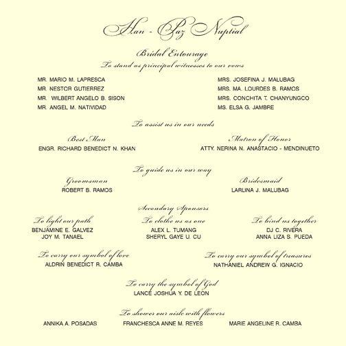 Invite Entourage Layout · Wedding Invitation SamplesWedding ...
