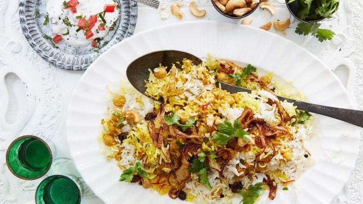 Anjum Anand's Indian vegetarian recipes for biryani, burgers and more
