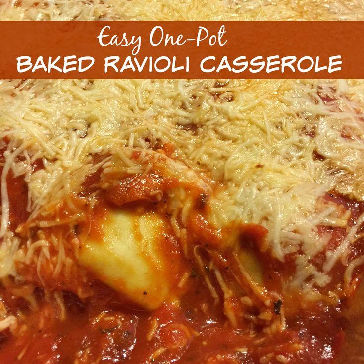 Easy One-Pot Baked Ravioli Casserole