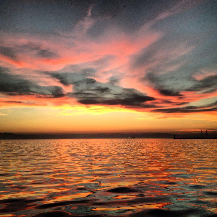 Burning sky, Thessaloniki