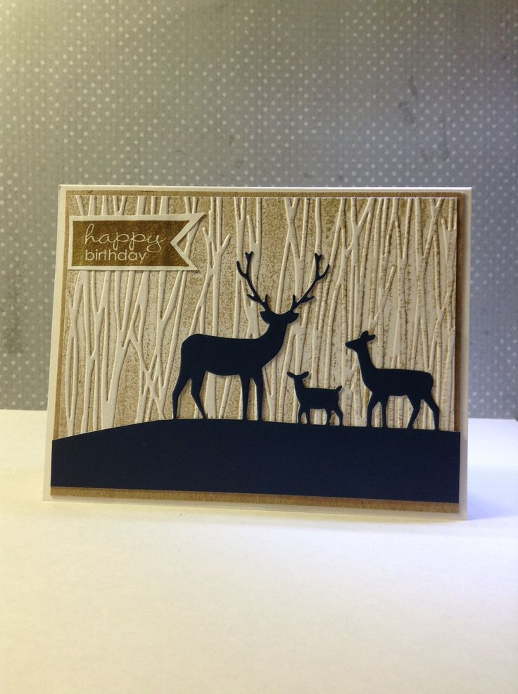 Happy Birthday Memorybox Dies Deer Trio Lotte Huxley