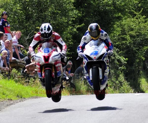 William Dunlop and Guy Martin getting air!
