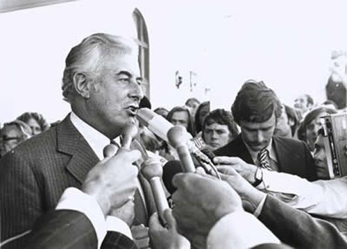 Edward Gough Whitlam, AC, QC (born 11 July 1916), known as Gough Whitlam (pron.: /ˈɡɒf ˈwɪtləm/ goff wit-ləm), served as the 21st Prime Minister of Australia. Whitlam led the Australian Labor Party (ALP) to power at the 1972 election and retained government at the 1974 election, before being dismissed by Governor-General Sir John Kerr at the climax of the 1975 Australian constitutional crisis. Whitlam remains the only Prime Minister to have his commission terminated in that manner.