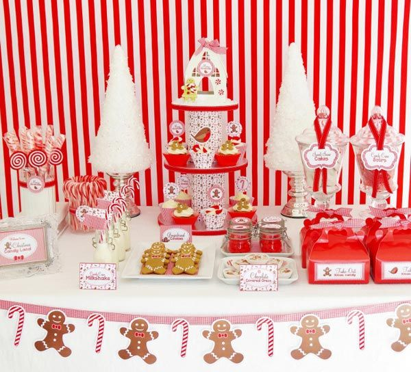 Christmas idea: Christmas Desserts, Christmas Parties, Candy Buffet, Gingerbread Parties, Christmas Candy, Candy Canes, Parties Ideas, Candy Land, Desserts Tables