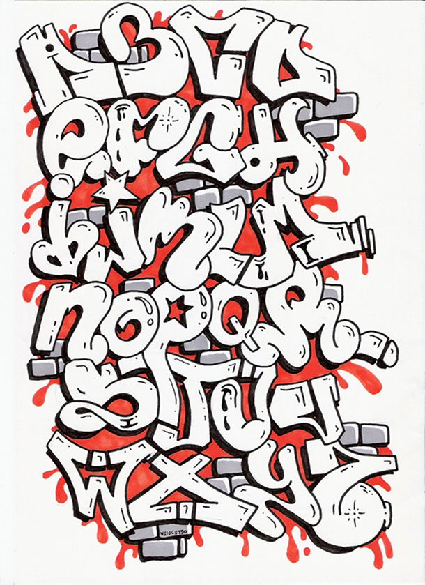 die besten 17 ideen zu graffiti alphabet auf pinterest. Black Bedroom Furniture Sets. Home Design Ideas