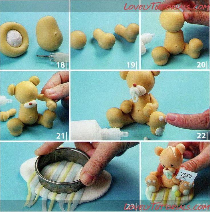 Fondant mackó 2  Fondantot, ételfestéket ,eszközöket vásárolj a GlazurShopban! http://shop.glazur.hu