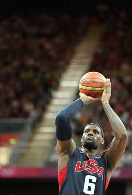 You got the touch -  Lebron James scores nine of Team USA's final 12 points to help the US avoid an embarrassing loss to Lithuania in the preliminary round. LeBron finished with 20 points.