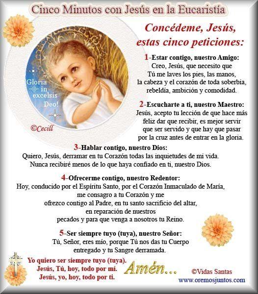 ORACIONES A JESÚS EUCARISTÍA