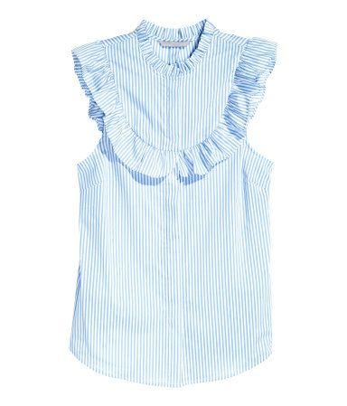 Blusa sin mangas | Azul claro/Rayas | Ladies | H&M MX