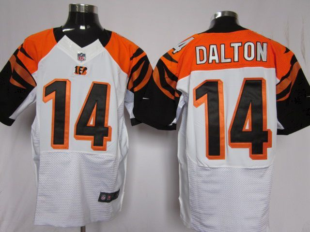 Nike NFL Elite Jerseys Cincinnati Bengals Andy Dalton #14 White  Reliable online store for cheap NIKE NFL Cincinnati Bengals  Jerseys, 2012 New collection, top quality with most favorable price. please click: http://digjersey.com/nike-nfl-jerseys-cincinnati-bengals-c-129_133.html